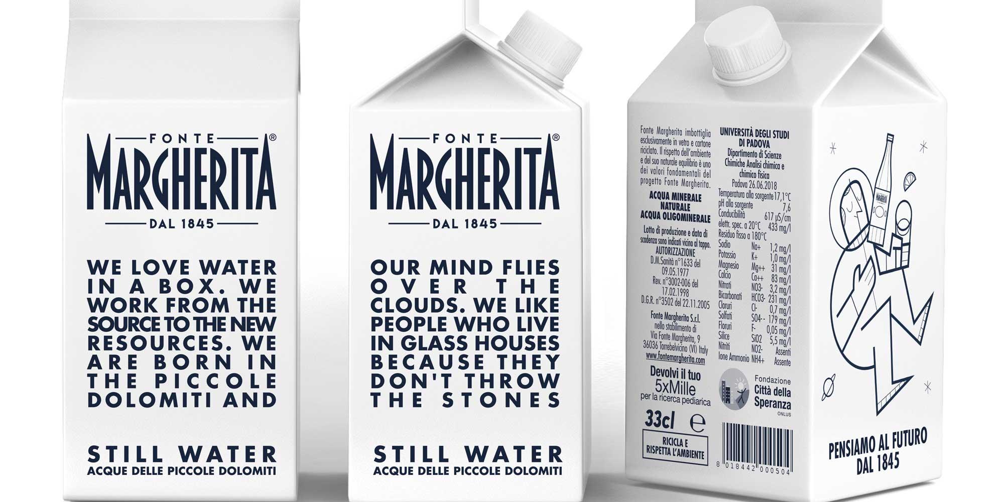 Sostenibile, pratico e con un tocco di fascino vintage: il nuovo packaging di Fonte Margherita è pronto a stupirvi!